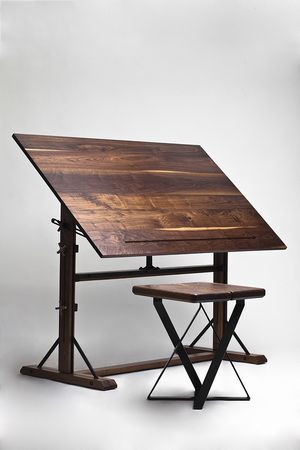 walnut drafting table---- could be an awesome dining room table....... not in my new place of course .... too tiny