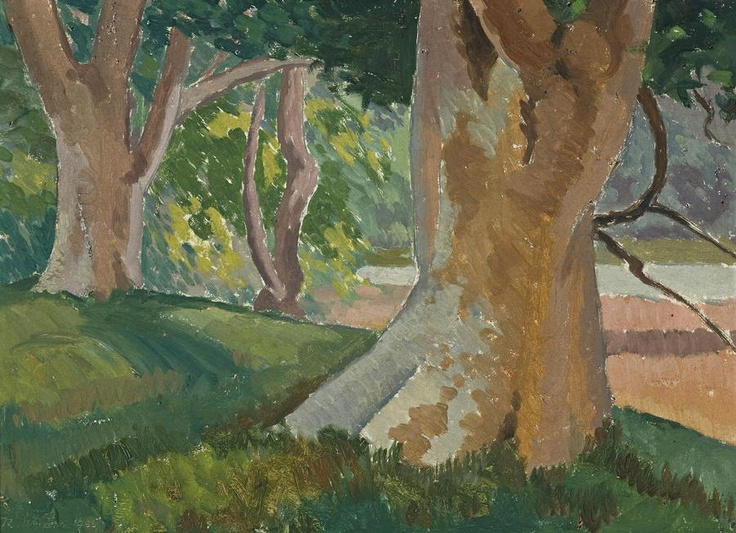 Roland Wakelin 'Landscape With Angophoras', 1935 35.0 x 48.5 cm oil on board