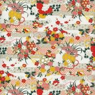 RKB8824 Floral Garden Washi Paper - 8.5x11 - Bulk by Hanko Designs   www.HankoDesigns.com - 2015