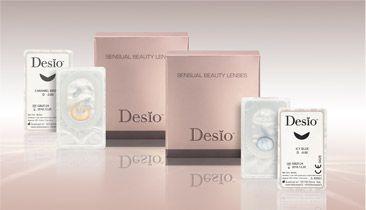 DESIO - 41.50€ - Επιλογή 8 χρωμάτων για όσους θέλουν να αλλάξουν και να τονίσουν την ομορφιά των ματιών τους. Άνεση και ευκολία στην χρήση. Ανταποκρίνονται στις νέες απαιτήσεις της σύγχρονης αγοράς. Για άνδρες και για γυναίκες μια νέα σειρά φακών prêt à porter. Κομψοί με μοναδικά σχέδια, δίνουν σε όλα τα χρώματα ματιών ένα φυσικό χρωματιστό αποτέλεσμα.