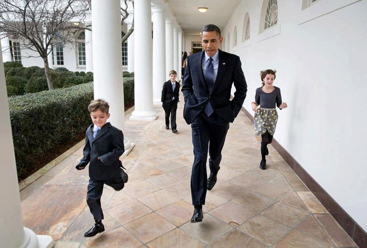 President Obama and the Secret Service. Too cute!
