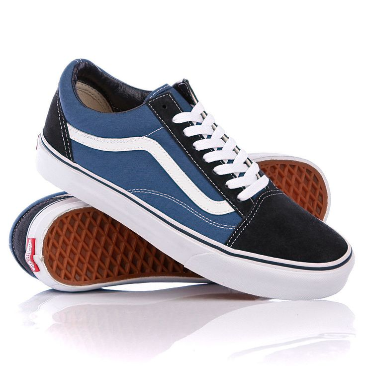 VANS Old Skool Lite Navy/STV Navy/White UltraCush Casual Classic MEN'S 7.5