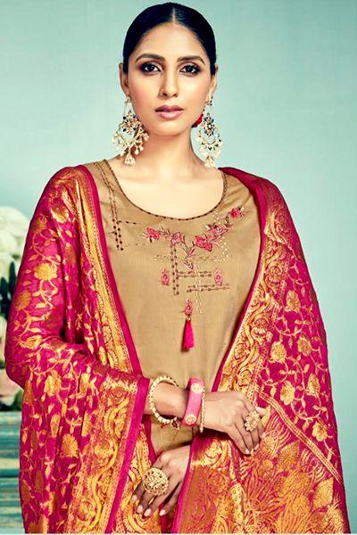 4bd1124070 BelliZa DesigNer StuDio Banaras Pure Heavy Jam Silk Suit 141-010 ...