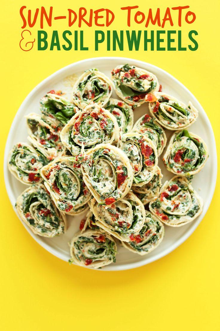 (via Sun-dried Tomato Basil Pinwheels | Minimalist... - A collection of vegan recipes