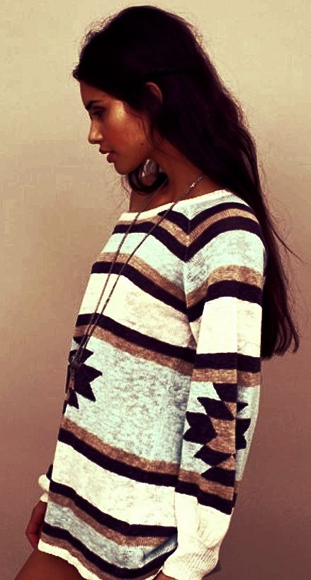 Tribal sweater...WANT