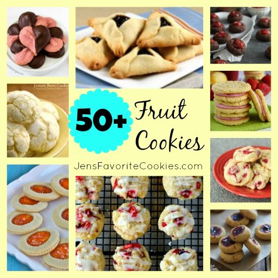 50 Fruit Cookie recipes on JensFavoriteCookies  -  Every cookie in this collection contains real fruit in some form!  A great collection to ...