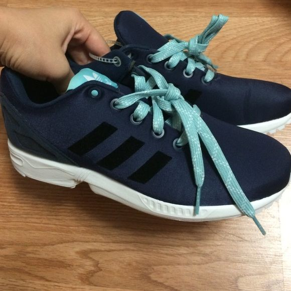 Adidas ZX Flux Women Ortholite Torsion Brand new never worn. It is a 4.5 in kids but I'm a 7 and these fit me! Adidas Shoes Sneakers