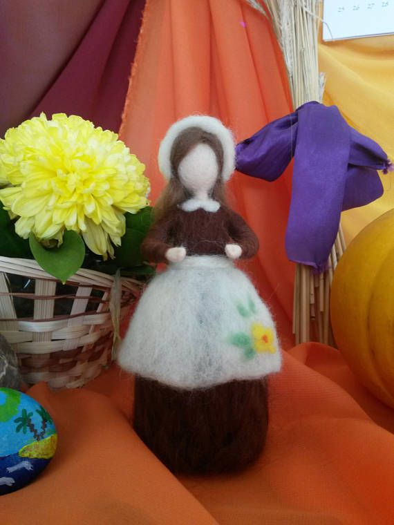 Needle felted Mother Earth wool Waldorf inspired Art doll