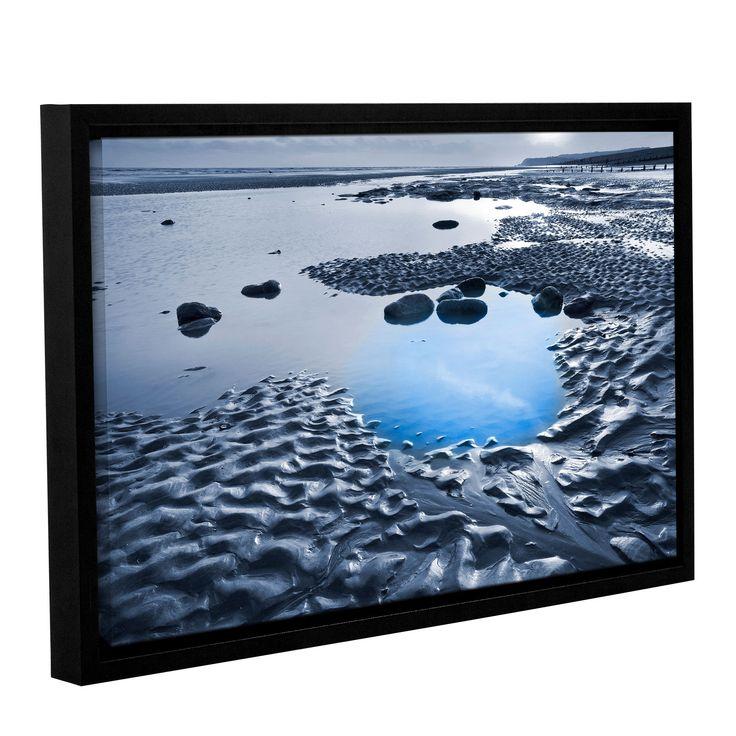 ArtWall Simon Kayne ' Dunes On Winchelsea Beach' Gallery Wrapped Floater-framed