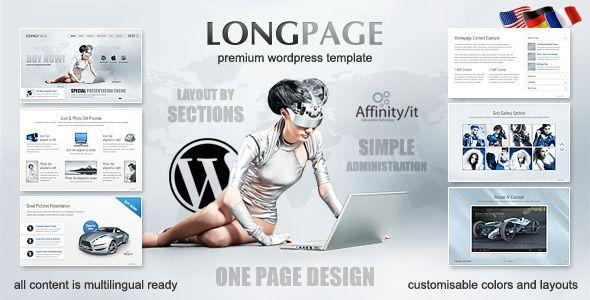 Longpage Product and Service Presentation WP Theme