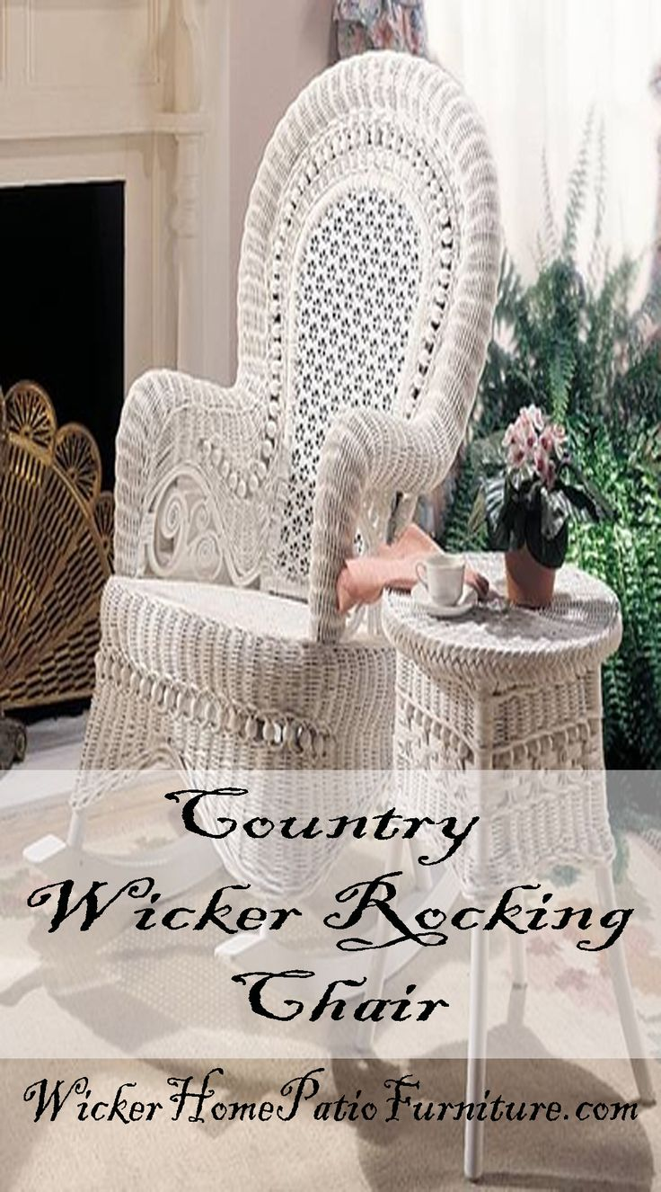 Lexington furniture chair fabric gold additionally ikea swivel chairs - Country Wicker Rocking Chair Is Styled After Victorian Era Estate Furniture This Regal Country Rocker