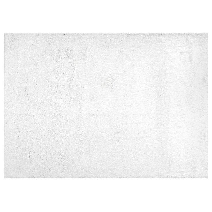 nuLOOM Airy Shag Gynel Cloudy Solid Rug, White