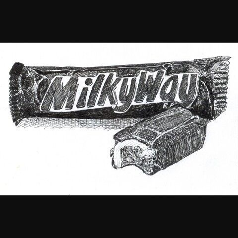 Drawing of MilkyWay bar