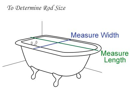 diy shower curtain rod for claw tub   How to Install Clawfoot Shower Rod & Clawfoot Curtain