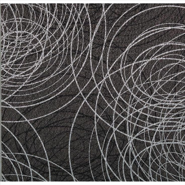 991607 Bling Modern Wallpaper Scribble Black Silver