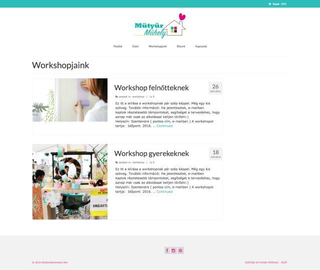 Woocommerce alapú webshop és honlap demo