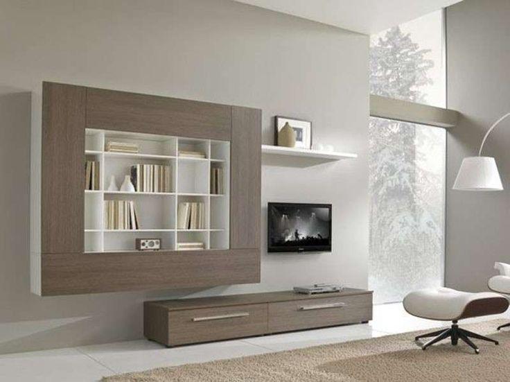 17 migliori idee su design per parete tv su pinterest - Parete attrezzata grigia ...
