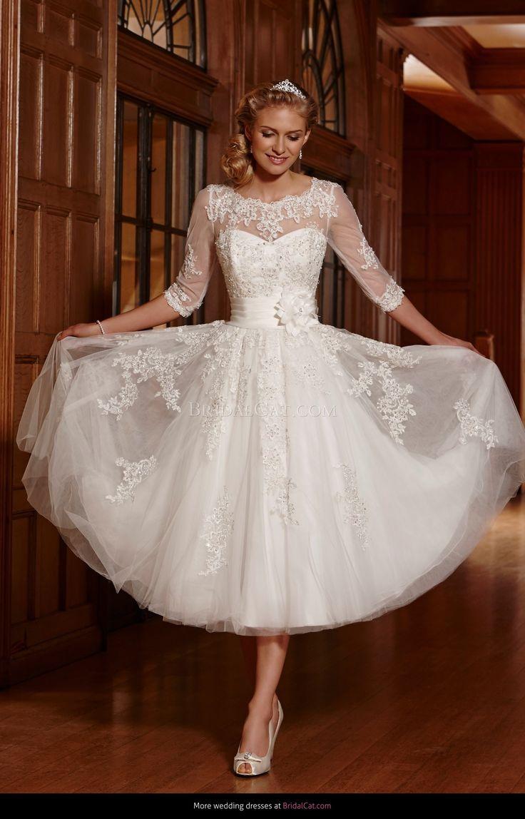 Under the knee wedding dresses Tea length wedding dress