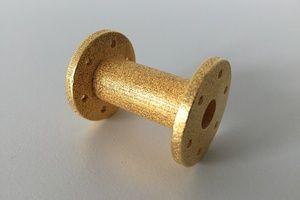 Flansch (Material: Rostfreier Stahl; Farbe: Natur; Behandlung: vergoldet)