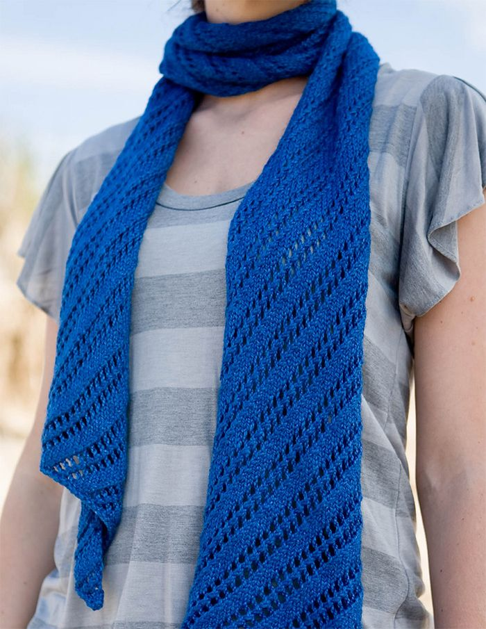 Free Knitting Pattern For Easy Wakefield Scarf Easy Diagonal Lace