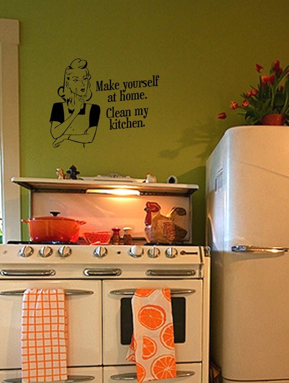 Custom Wall Decal RetroVintage Kitchen by CherryPepperDesigns, $18.00
