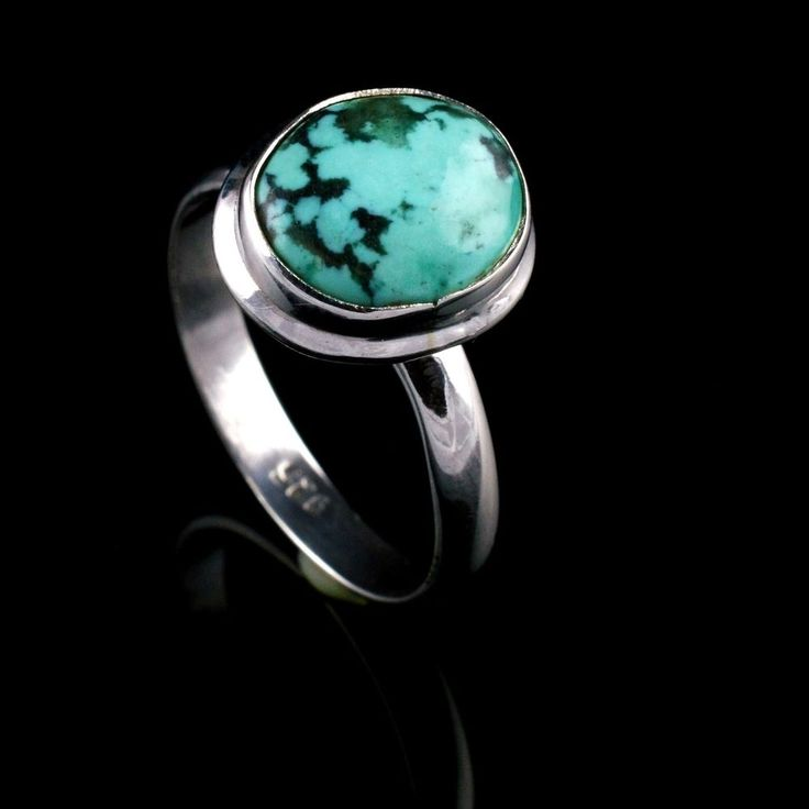 925 Sterling Silver Natural Turquoise Gemstone Handmade Ring Size 9.5 US #Handmade #Cluster #Party
