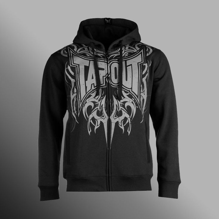 Mikina TAPOUT Darkside black/grey