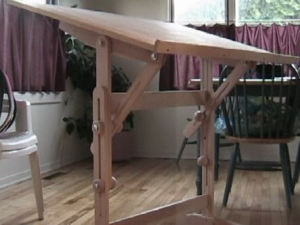 Recycled Material Drafting Table