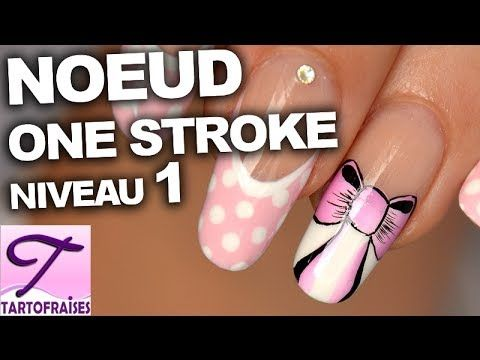 Tuto nail art noeud one stroke girly sur french manucure (+lista de repr...