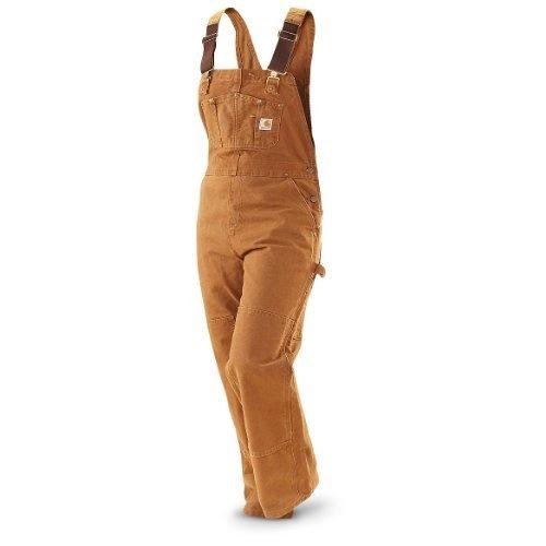 Womens Carhartt Unlined Sandstone Bib Overalls Brown, CARHARTT BRN, 10-30 Carhartt, http://www.amazon.com/dp/B00BMRGBMQ/ref=cm_sw_r_pi_dp_qkVCrbA4B11045A8
