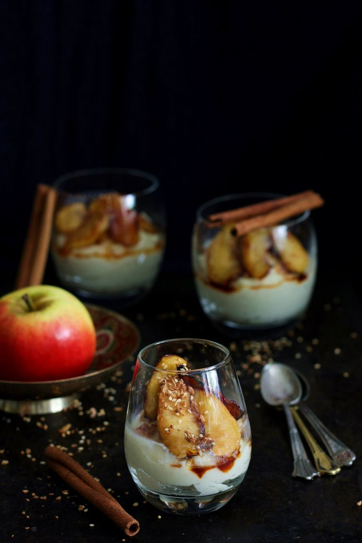 Fit dessert from millet with carmelized apples (without dairy, sugar and gluten)
