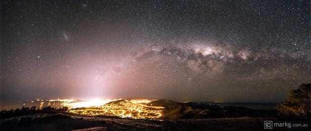 Wellington NZ meets the Milky Way