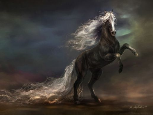 animals fantasy art horses creatures