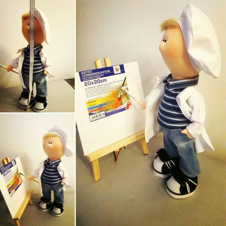 My new handmade doll- Painter ❤