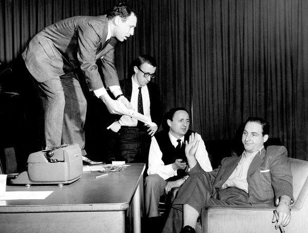 Mel Brooks, Woody Allen, Mel Tolkin and Sid Caesar