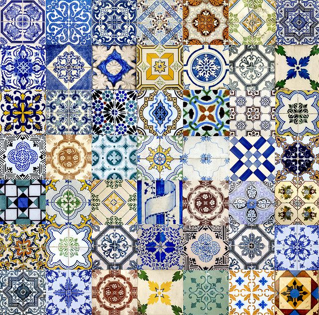 Portuguese tiles ~ photographer Eugene Zhukovsky  . . . .   ღTrish W ~ http://www.pinterest.com/trishw/  . . . .  #pattern #tiles #colorful