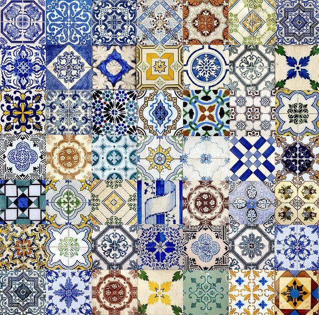 Portuguese tiles ~ photographer Eugene Zhukovsky #pattern #tiles #colorful