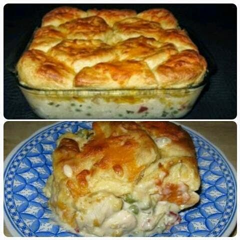 Chicken biscuit casserole ~ Recipe of today