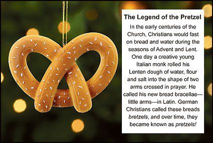 Legend of the Pretzel Ornament and Story Card Christmas ...
