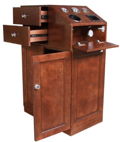 Justoc mobile salon spa styling stations furniture for Beautician furniture