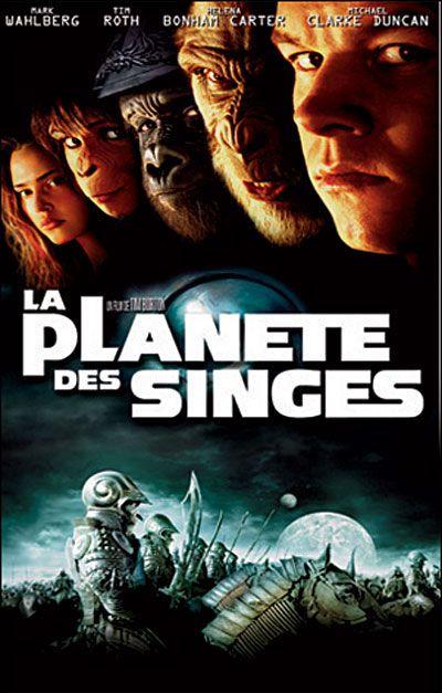 La Planète des singes est un film américain, inspiré du roman La Planète des singes de Pierre Boulle, réalisé par Tim Burton, sorti en 2001. En 2029, un groupe d'astronautes entraîne sur la station orbitale Oberon des singes pour remplacer l'homme dans des explorations spatiales à haut risque. Suite à la réception d'étranges signaux, les astronautes envoient le chimpanzé Pericles afin d'en connaître l'origine.
