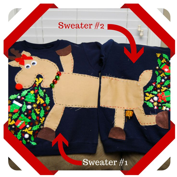 DIY Tacky Christmas Sweater Ideas - Our Valley Events