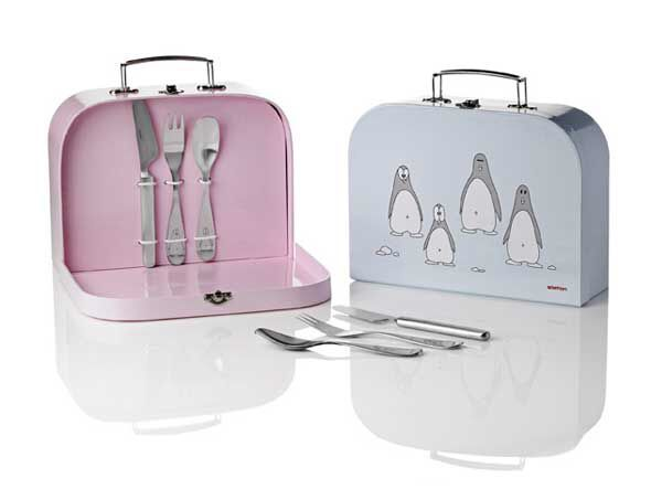 Our kids deserve beautiful cutlery too and Kay Bojesens Penguin Children's Cutlery has the perfect packaging.