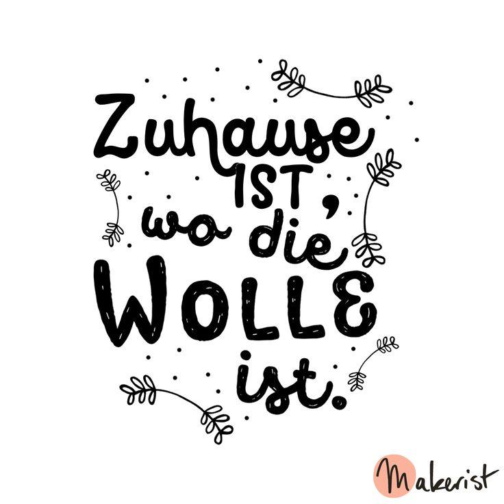 Zuhause ist, wo die Wolle ist - via Makerist.de