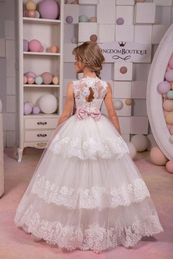 Marfil vestido  cumpleaños de Dama de honor por KingdomBoutiqueUA
