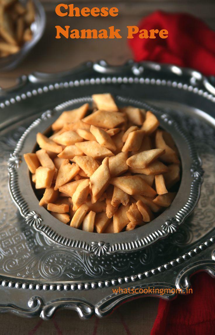 Cheese Namak Pare -Diwali snacks. Namak pare with cheese. Kids will love them.