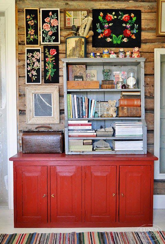 L U N D A G Å R D | inredning, familjeliv, byggnadsvård, lantliv, vintage, färg & form: Rött och svart
