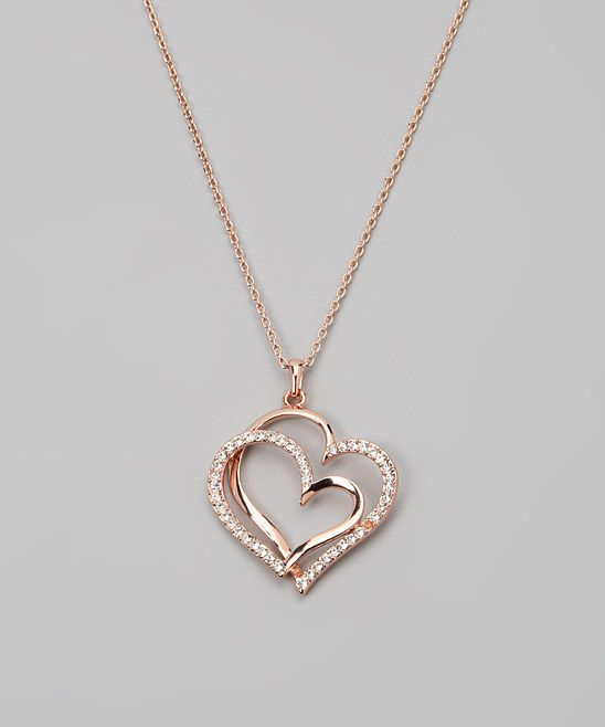 Rose Gold Double Heart Necklace @Pascale Lemay Lemay De Groof