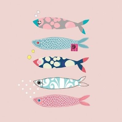 #fish #illustration  For handmade dolls that have interchangeable eyes and mouths, visit jessicadolls.com!