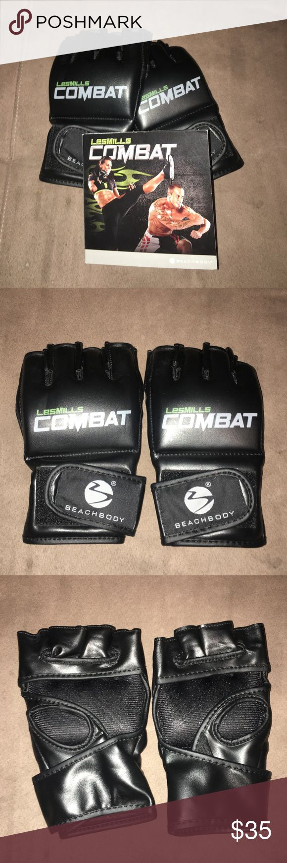 Les Mills Combat DVDs and gloves From Beachbody, Les Mills Combat DVDs with gloves. Super fun workout! The 6 DVDs included are The Basics, Combat Kick Start/Combat Power Kata, Combat Extreme Cardio Fighter, Combat Live Ultimate Warrior's Workout, Power HIIT 1/Shock Plyo HIIT 2 & Combat 30 Live. There's 2 empty slots in the DVD case that are available for order through Beachbody if you would want the extra 2 (Warrior 1 Upper Body Blow Out/Warrior 2 Lower Body Lean Out & Core Attack/Inner…